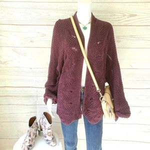 NWOT! Maurices crochet knit open front cardigan